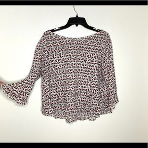 < GAP Floral Ruffle Blouse XL >